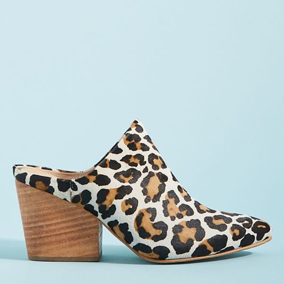 2b4d87f1142 ABLE Shoes - Anthropologie Calf Hair Leopard Print Mules